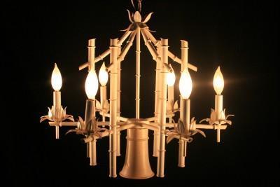 Tan faux bamboo pagoda chandelier aloadofball Images