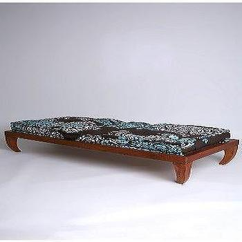 Arched Acrylic Brown Cushioned Coffee Table