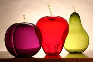 Summer Fruit Set: Anthony Biancaniello: Art Glass Sculpture, Artful Home