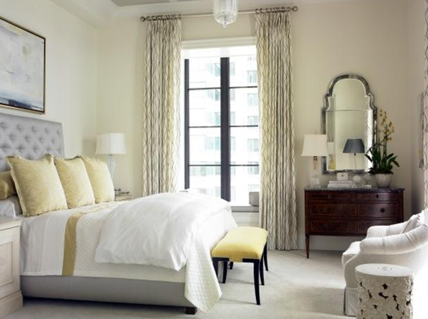 gray and yellow bedroom transitional bedroom womack interiors