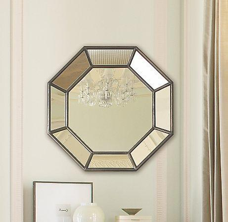 octagon bathroom mirror octagon shaped paneled mirror 13837