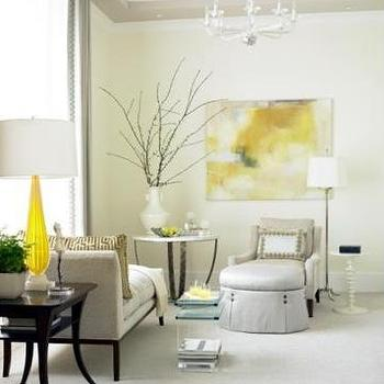 Yellow and Gray Art, Transitional, bedroom, Womack Interiors