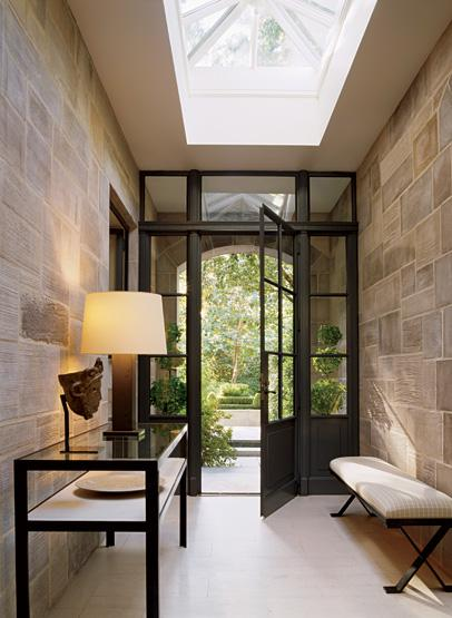 Foyer Skylight Contemporary Entrance Foyer