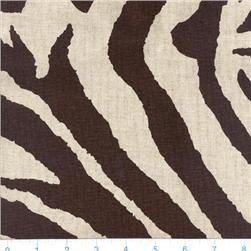 Brown Zebra Pattern Linen Fabric