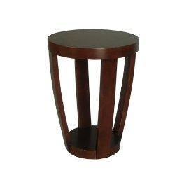 Brown Open Base Drum Accent Table. Target.com