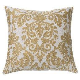 Damask Pillow, Gold (18x19