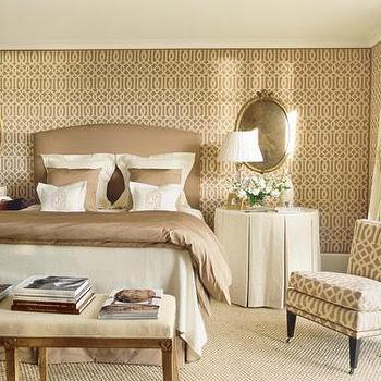 Kelly Wearstler Wallpaper, Transitional, bedroom, Veranda