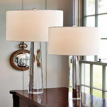 Williams sonoma home faceted crystal taper lamps additional shades view full size