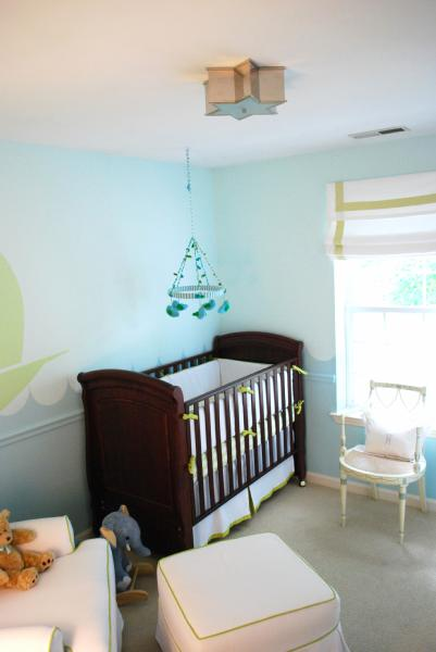 Blue Nursery Paint Colors Transitional Nursery Benjamin Moore Blue Bonnet Teresa Meyer
