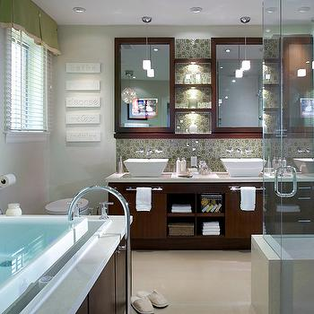 Candace Olson Bathrooms, Contemporary, bathroom, Benjamin Moore Ballet White, Candice Olson