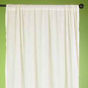 Natural Essential Voile Curtains Set of 2, Window Panels, Cost Plus World Market