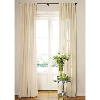 Natural Essential Voile Curtains Set of 2 - Window Panels - Cost ...