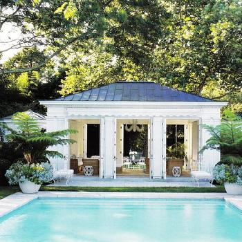 Pool House, Transitional, pool