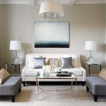 Edgecomb Gray, Contemporary, living room, Benjamin Moore Edgecomb Gray, Style at Home