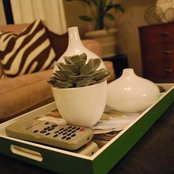 Green Lacquer Tray, Transitional, living room, Sherwin Williams Perfect Greige, Nuestra Vida Dulce