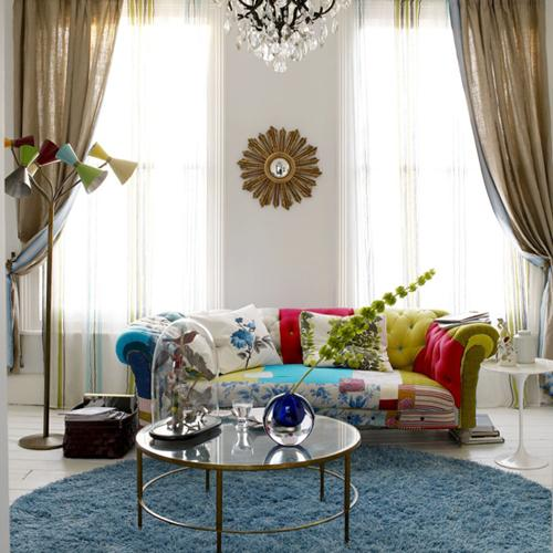 Round Brass Coffee Table Eclectic Living Room Living Etc