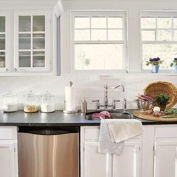 Subway Tile Backsplash, Transitional, kitchen