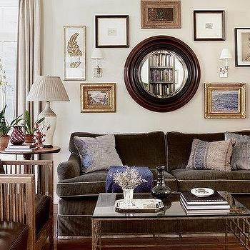 Cream And Brown Living Rooms Transitional Living Room