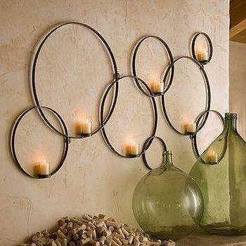 Circles Wall-Mount Votive Holder, Pottery Barn