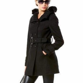 bebe Hooded Wool Coat, Web Exclusive