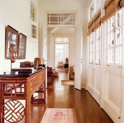 British Colonial Foyer Cottage Entrance Foyer