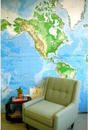 UrbanOutfitters.com > World Map Wall Mural