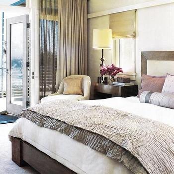 Gray Silk Blanket, Contemporary, bedroom, Madeline Stuart