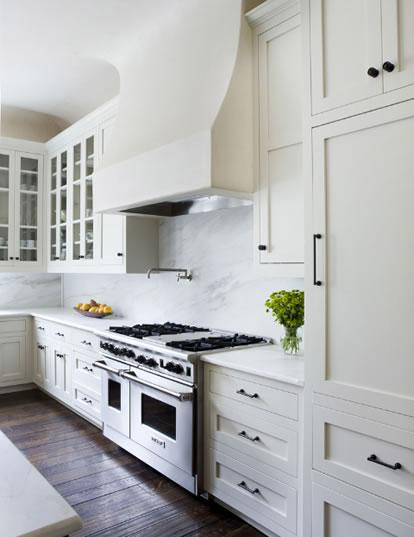 Ikea kitchen cabinets transitional kitchen james for White kitchen cabinets black hardware