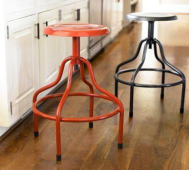 Bryce Adjustable Barstool | Pottery Barn