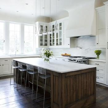 White Kitchen Cabinets with Oil Rubbed Bronze Hardware, Transitional, kitchen, James Michael Howard
