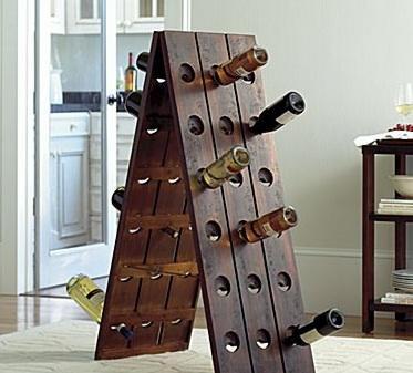 Rustic Wood Wine Rack Look 4 Less