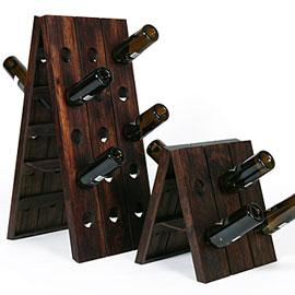 Rustic Wood Wine Rack Look 4 Less