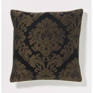 Rosette Decorative Pillow : Rosette Black Pillow in Decorative Pillows from Bellacor