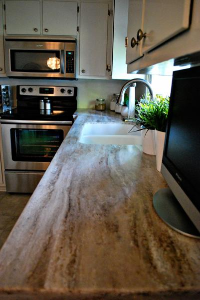 Corain Countertops Transitional Kitchen Nuestra Vida