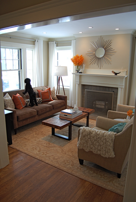 Manchester Tan Transitional Living Room Benjamin