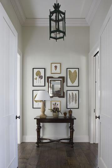 Foyer Light Over Table : Cottage entrance foyer