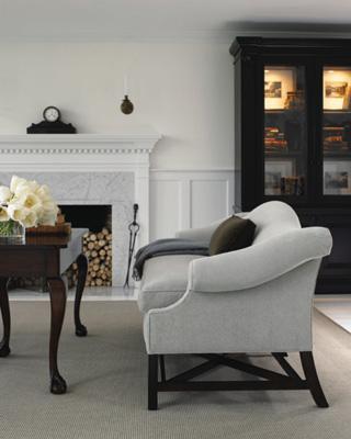 Brown Velvet Sofa Contemporary Living Room