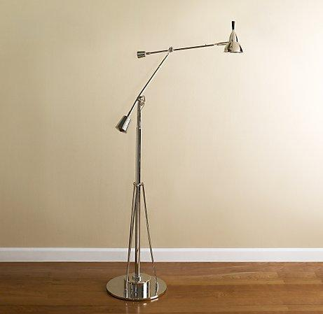 Polished steel task floor lamp counterpoise polished steel task floor lamp aloadofball Images