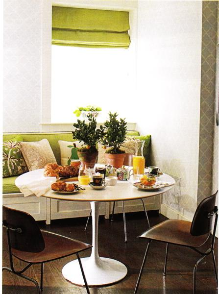 Breakfast Nook Transitional Dining Room