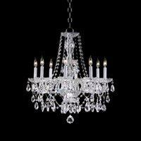 8 Light Crystal Chandelier: Quorum International 630-8-51 8 Light Chandelier, Chrome , Crystal  Chandeliers by,Lighting