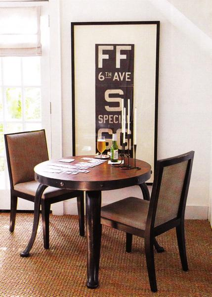 Vintage Subway Sign - Transitional - dining room