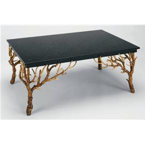 Black Granite Top Designer Coffee Table