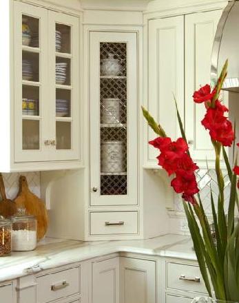 Corner KItchen Cabinet - Country - kitchen