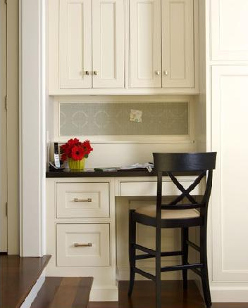 Dealing With Built In Kitchens For Small Spaces Connecticut Kitchen Office Area In Kitchen