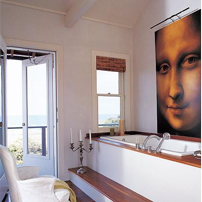 Art Above Bathtub Contemporary Bathroom
