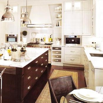 Brown KItchen Island, Transitional, kitchen
