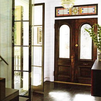 glass bi fold doors eclectic