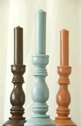 Simple Pillar Candles by India Rose in Various Colors