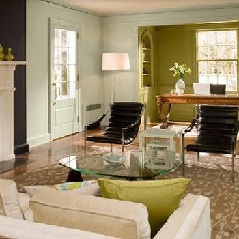 Benjamin Moore Blue Paint, Contemporary, living room, Benjamin Moore Gossamer Blue, Benjamin Moore