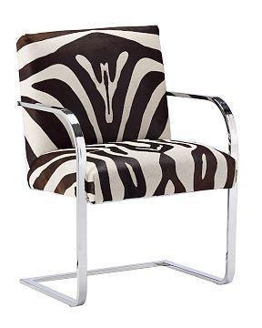 zebra arm chair. williams-sonoma home - gibson zebra armchair arm chair a